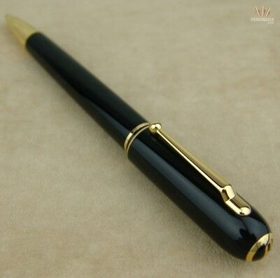 Dunhill Sidecar Black Resin With Gold Plated Finish Ball Point Pen Gorgeous !!!!