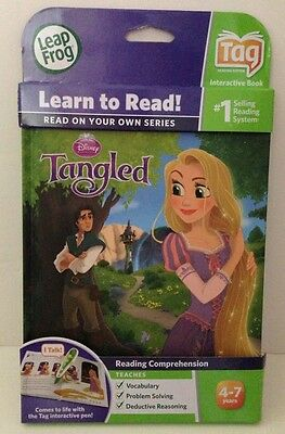 Leapfrog Learn To Read! Interactive Book TANGLED Use With Tag System  Leap Frog
