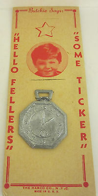 VINTAGE THE HARCO CO METAL TOY POCKET WATCH - USA