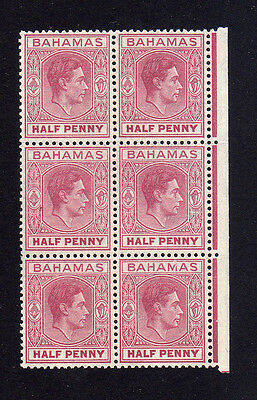 BAHAMAS 1938 ½d WITH ELONGATED 'E' SG 149ec MNH.