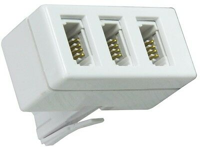 Bt Telephone Tripple 3 Way Adaptor Splitter