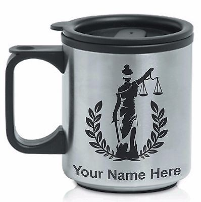 Personalized Stainless Steel Coffee Mug - JUSTICE, JUDGE, LAWYER, LEGAL, LAW
