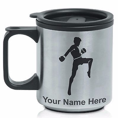 Personalized Stainless Steel Coffee Mug - MUAY THAI FIGHTER / FIGHTING