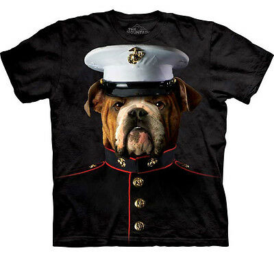 The Mountain Bulldog  Dog Usmc Marines Military  Animal  Big Face Adult  T Shirt