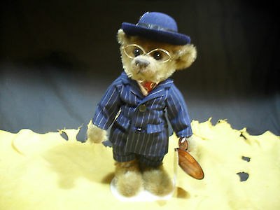 """Brass Button Bears """"Baxter"""" 1900's 20th Century Collectibles w/ Stand WT"""
