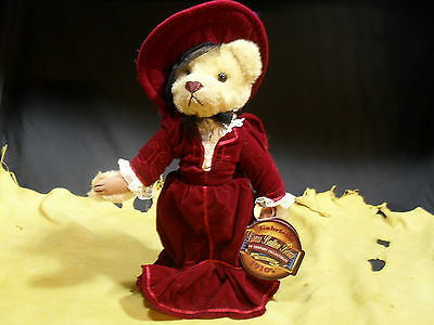 """Brass Button Bears """"Gabrielle"""" 1910's 20th Century Collectibles w/ Stand WT"""
