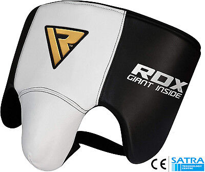 RDX Cow Hide Leather No Foul Groin Guard Protector MMA Cup Boxing Abdo Muay Thai