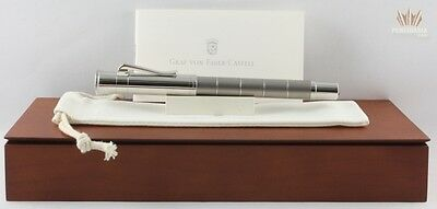 Graf Von Faber-Castell Classic Anello Titanium With Platinum Trim Fountain Pen !