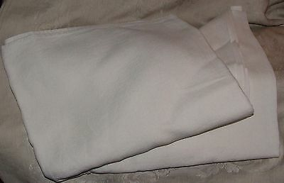 """Vintage 1950s White Linen Home Made 50 x 48"""" TABLECLOTH"""