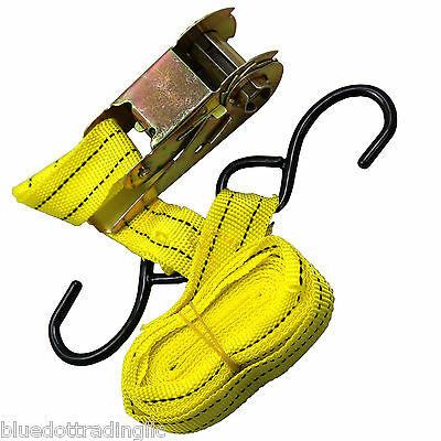 Yellow Jacket 15' Ratchet Tie Down Capacity Strap Tool Car Truck