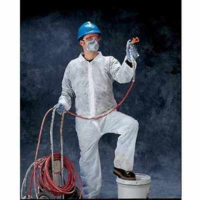 Radnor 64053101 White Zipper Front Disposable Work Coveralls XL QTY 25