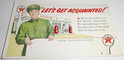 1950's Texaco Oil Postcard Let's Get Acquainted