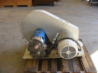 "Waukesha Size 130. 3"" Rotary Lobe pump. On base with 10 HP in NJ"
