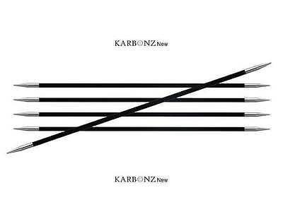 Knitter's Pride ::Karbonz Double Pointed Needles:: 000 US 6 in / 1.50 mm 15 cm