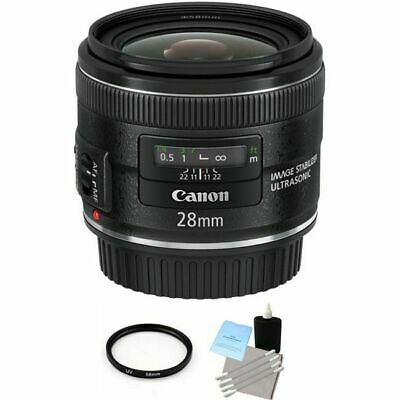 Canon EF 28mm F/2.8 IS USM Lens + UV Filter & Cleaning Kit
