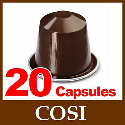 20 COSI Nespresso Coffee Capsules *FRESH NEW SEALED*