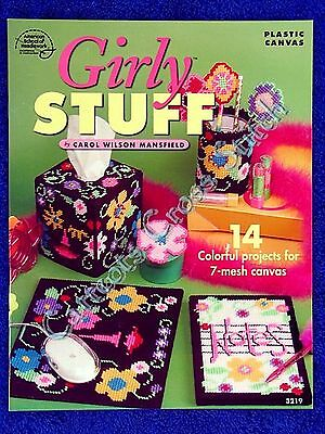 Plastic Canvas Pattern Girly Stuff Fun Bright Retro
