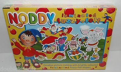 New Noddy In Toyland Laminated Fuzzy Felt Picture Making Set Ages 3 - 6