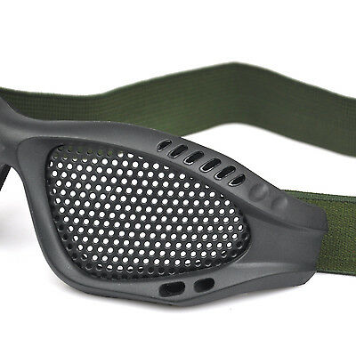 TRIXES Tactical Airsoft Eye Protection Goggles No Fog Metal Mesh Glasses
