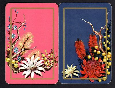 Vintage Swap/Playing Cards - Pretty Flowers Pair