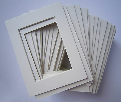 65 8x10 Pre-cut Mats Matboard Off White with Cream Core for 5x7 Pictures 4ply