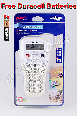 Brother P-Touch H101C Handheld Labelling Printer Machine System Tape Batteries