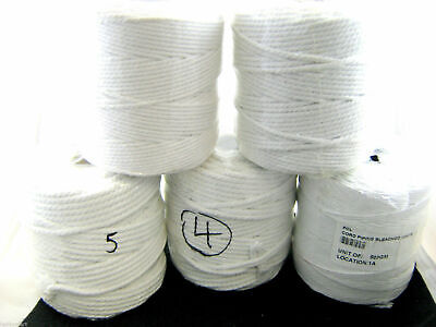 **100% Bleached White Cotton Cushion Piping Cord 6 Sizes 1mm/2mm/3mm/4mm/5mm/6mm