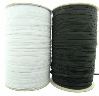 6 Cord Elastic - ( 4mm approx ) - Very Best Quality Cord Elastic Black or White