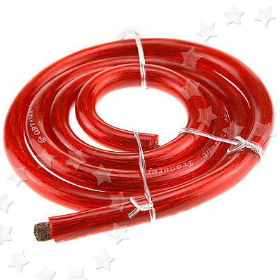 Car Truck Boat 170 Amp Amplifier Red Positive 21Mm Battery Starter Wire Cable 3M