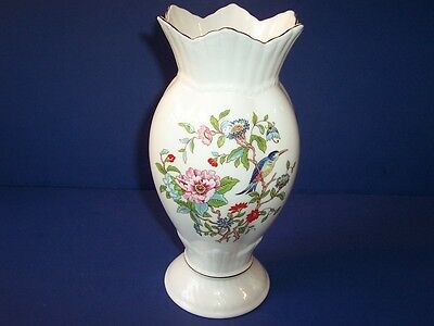 Aynsley Bone China Somerset Large Footed Flower Vase Made In England 8 1 8 Quot 39 95 Picclick