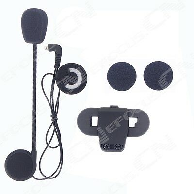 Microphone/Speaker/Headset+Clip for TCOMVB motocycle Helmet intercom Interphone