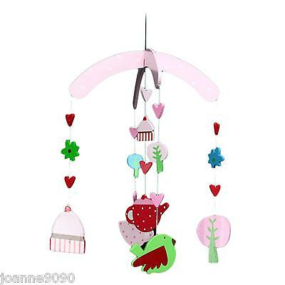 Gisela Graham Tea Party Cupcake Bird Hanging Mobile Decoration Cot Baby Gift