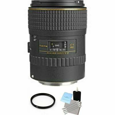 Tokina AT-X PRO 100mm F/2.8 D MF AF Lens For Canon + UV Filter & Cleaning Kit