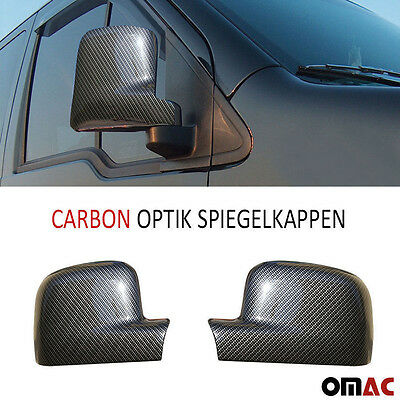 Carbon Spiegel Blenden Kappen Optik für VW Transporter T5 Caddy Bj. 2003 - 2010