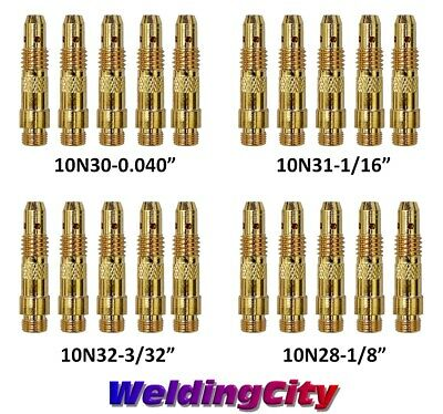 "WeldingCity 5-pk TIG Welding Torch STUBBY Collet Body 4CB418 1//8/"" for 17//18//26"