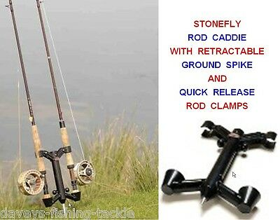 Stonefly Rod Caddie Ground Spike 2 Rod Holder Fly Fishing Reels For Trout Salmon