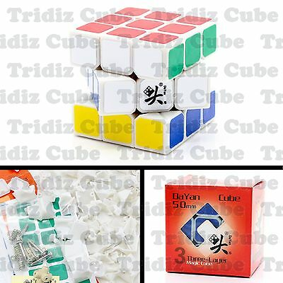 3x3x3 White Dayan Zhanchi V5 50mm Mini Speed Cube puzzle smooth New - US SELLER-