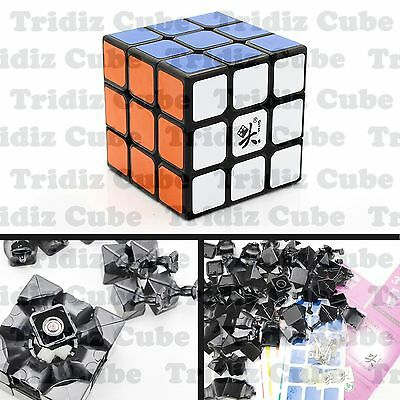 3x3x3 Black Dayan Zhanchi V5 55mm Speed Cube puzzle smooth New - US SELLER -