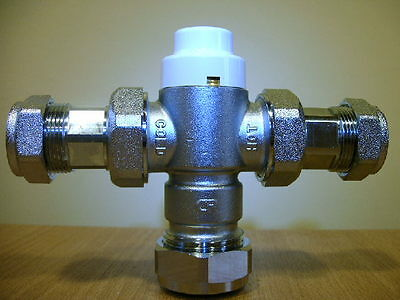 Thermostatic Mixing Valve 22mm with 15mm reducers Class 2 & 3