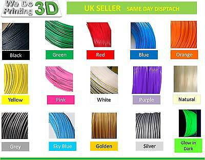 3D Printer Filament ABS 1.75mm, 25 Colours - 100m 50m 20m 10m Lengths - Reprap