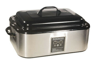 DIGITAL HOT STONE MASSAGE HEATER: 18 Quart - precision temperature control