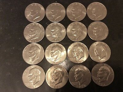 Eisenhower Dollar Ike 1971-1978 P D COMPLETE 12 coin Set   AU TO BU