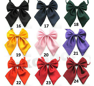 fashion colors Adjustable Women big Bow Tie bowknot Tie for party school girl