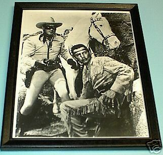 Lone Ranger And Tonto Framed B&w 8X10