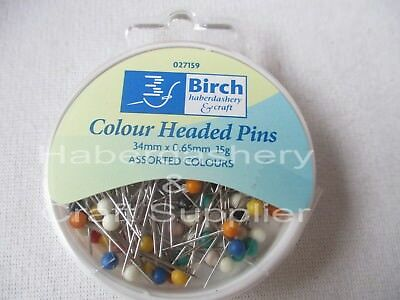 Pins Color Plastic Head 34Mmx 0.65Mm 15Grams Assorted