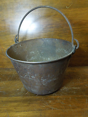 Vintage Brass Bucket Cauldron 1851 Patent By The Ansonia Brass Co - HW Hayden