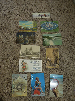 Vintage Lot of Various US Postcards & Advertisement Cards