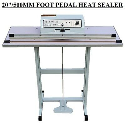 "20""/50Cm/500Mm Foot Pedal Impulse Heat Sealer Machine For Heavy Duty+Spare Parts"