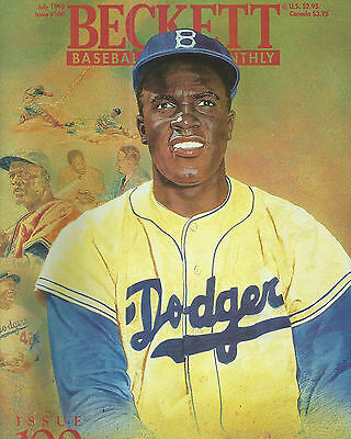 Jackie Robinson Covers Beckett Baseball Card Monthly Magazine July 1993