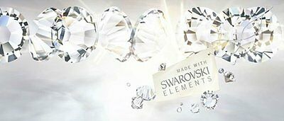 Swarovski® Genuine RHINESTONE Flat-Back Crystals AB Clear gems beads nail art